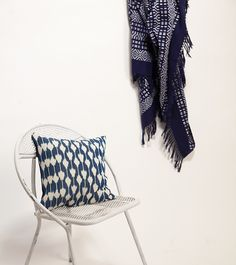 Jaspe Pillow + Chiapas Throw handwoven by Mayan artisans in Guatemala and Chiapas. | Ara Collective