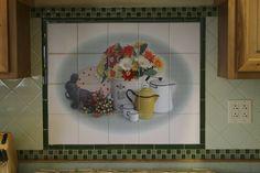 Tile Backsplash from Photo, personalized tile mural