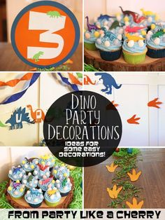 Dino Party Decorations - Party Like a Cherry