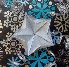 Origami star ornament