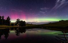 Auroras australes desde Ulverstone, Tasmania, Australia. 8 de mayo de 2014 Crédito: Jamie Richey