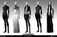 Asari clothing concept art