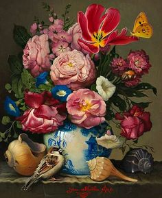 Yana Movchan: Flowers with Asian Vase, 2011