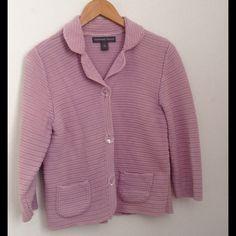 Crochet Blazer Soft lilac crochet blazer. Excellent condition. Josephine Chaus Jackets & Coats Blazers