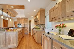 14 best red birch kitchens images on Pinterest | Birch cabinets ...