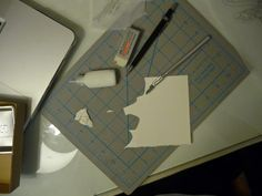 Picture of Cutting out the Shapes and Glueing the Layers
