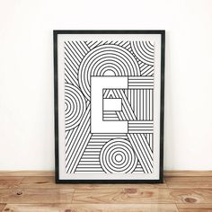 Letter Print E Initial Poster Letter Print by FactoryTwentyOne
