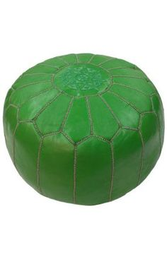 nuLOOM Handmade Casual Living Leather Moroccan Ottoman Pouf (Green), Size 20 x 20 (Cotton) Leather Ottoman, Pouf Ottoman, Ottoman Bench, Neon Accessories, Moroccan Pouf, Rugs Usa, Elegant Homes, Green Leather, Furniture