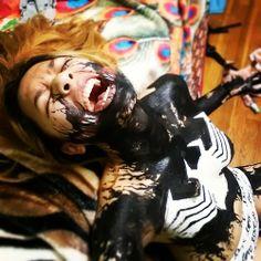 #Cosplay #Spiders: #Rule63 #Venom #Bodypaint