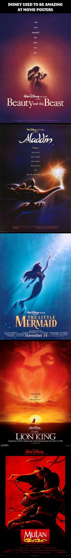 Amazing Disney Movies Posters. I want the old disney poster back.... I miss them!