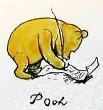 Original Drawing of Pooh
