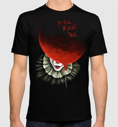 Pennywise Stephen King 'IT' Men's Women's T-shirt Diy Fashion Shoes, Fashion Outfits, Horror Movie T Shirts, Diy Tops, Punk Outfits, T Shirt Diy, T Shirts For Women, Clothes For Women, Custom Clothes