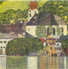Church in Unterach on the Attersee - Gustav Klimt