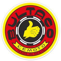 Pegatinas: Logo Bultaco rojo