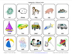Sorting by Category: Free Speech Therapy Picture Cards