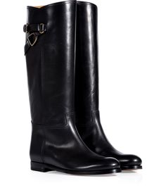 Black Burnished Calfskin Sachi Boots - Ralph Lauren... http://ladiesstylish.com/designers/ralph-lauren/shoes.html #LadiesStylish #Designer #Shoes