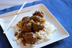 Make takeout at home with these easy slow cooked, sweet and sour meatballs. The sauce cooks in the slow cooker and mimics the flavor of restaurant Chinese food. Crock Pot Slow Cooker, Slow Cooker Recipes, Crockpot Recipes, Cooking Recipes, Freezer Recipes, Freezer Meals, Easy Recipes, Freezer Cooking, Crock Pot Cooking