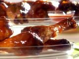Mix hot sauce and buffalo sauce to make these buffalo drumsticks by Melissa D'Arabian. They taste great even with half the butter and on chicken wings.