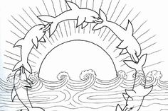 free dolphin pictures to print | dolphins coloring 16 600×400