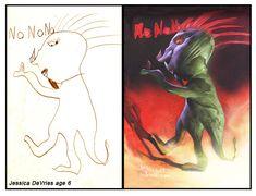 10 Paintings by Dave DeVries – Kid Drawings as Realistic Paintings