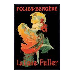 Folies-Bregere La Loie Fuller made by Vintage Posters From Around The World.