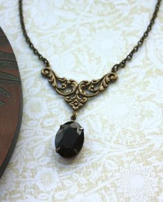 A Dark Red Garnet Vintage Jewel Art Nouveau Vintage by Marolsha, $26.50
