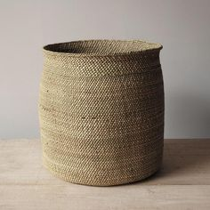These beautifully handcrafted Tanzanian baskets are woven from milulu grass. As they age, their colour changes form a greenish hue to beige. If needed they can