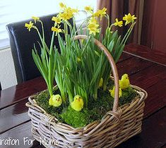 Best DIY Projects For Home Decorating: Spring Flower Basket Tutorial