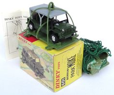 The Austin Para-Moke, by Dinky. A Mini Moke with a parachute, perfect for hurling into the sky then driving off into the dirt after a soft-ish landing. Classic Mini, Classic Toys, Retro Toys, Vintage Toys, Childhood Toys, Childhood Memories, Mini Jeep, Corgi Toys, Awesome Toys