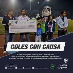 ¡Goles de #Rayados beneficiaron a 53 niños de Nuevo León! Conoce más aquí: http://www.rayados.com/articulo/1265361