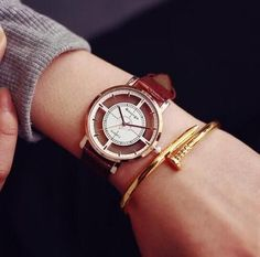 2016 Transparent Hollow Skeleton Dress Wristwatch Men Women Watches Fashion Casual Leather Clock Dress Watch Montre Femme AB1193