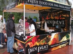 Pop Up Tent for Palm Palace Restaurant. PromotionalDesignGroup.com