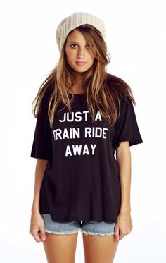 WILDFOX Train Ride Perfect Tee