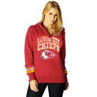 Kansas City Chiefs Ladies Preseason Favorite II Pullover Hoodie Sweatshirt #UltimateTailgate #Fanatics