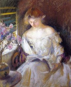 ✉ Biblio Beauties ✉ paintings of women reading letters and books - Edmund Tardel