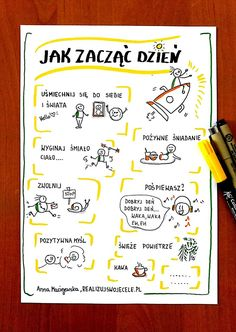 Myślenie wizualne, kurs online, e-book, sketchnoting Visual Note Taking, Spirit Quotes, Brush Lettering, Hand Lettering, Project Planner, Fitness Planner, Study Inspiration, Journal Prompts, Self Improvement