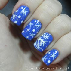 The Lacquerologist: Holiday Nail Art: Snowflakes!