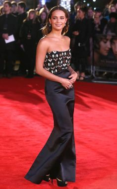 <p>In Louis Vuitton, of course. Alicia looked as chipper as she did chic at the UK Premiere of <em>The Danish Girl </em>in 2015. </p>