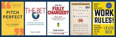 """Summer reading 2015 doesn't have to be limited to trashy novels; sharpen your business thinking with these books recommend by the experts at the University of Maryland's business school: left to right, """"Pitch Perfect,"""" """"The Bet,"""" """"Are you Fully Charged?"""", """"The Emperor of All Maladies,"""" and """"Work Rules!"""". http://www.dailyherald.com/article/20150703/business/150709769/"""