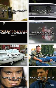 Just some of the awesome songs in Supernatural (gif set)