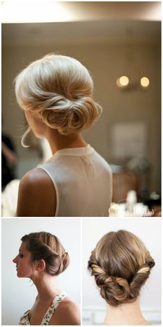 twist hair updo