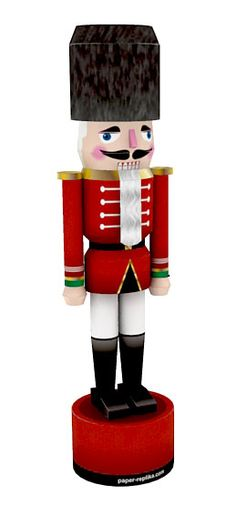 Nutcracker DIY Paper Craft ---  Can not make this work..  BUT pinning to work on later..