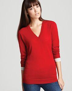 Burberry Brit Merino V Neck Sweater