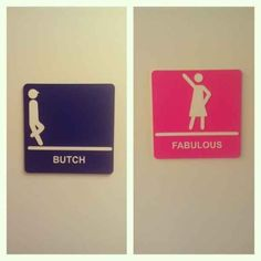 17 Of The Most Fabulous Gender Neutral Bathroom Signs My children will have so much confidence it's not even funny.