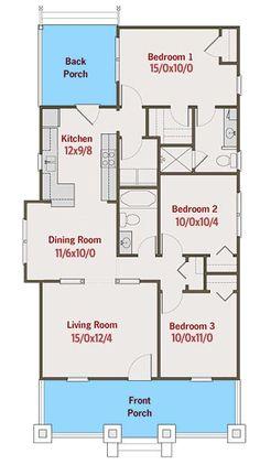 8 Best 3 Bedroom Flat Floor Plan Ideas In 2021 How To Plan House Floor Plans House Plans