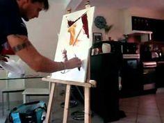 peinture au couteau du 23 octobre 2012.wmv - YouTube