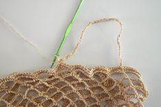 DMMU: Gratis haakpatroon: Boodschappen-netje! Chrochet, Straw Bag, Knitting, Crafts, Peace, Bags, Crochet, Manualidades, Tricot