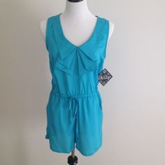 Turquoise/blue Bebop romper Turquoise/blue Bebop romper. ⚠no tradesplease don't ask what's lowest price make an offer using the make a offer button. Prices will not be negotiated in the comment section. Happy Poshing. BeBop Shorts