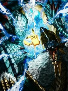 Pikachu and Zinogre