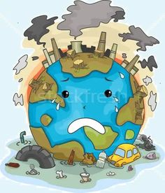 Illustration Of Crying Earth Due To Pollution Stock Photo, Picture And Royalty Free Image. Save Planet Earth, Save Our Earth, Salve A Terra, Air Pollution Poster, Save Water Poster Drawing, Save Earth Posters, Save Earth Drawing, Pollution Prevention, Earth Drawings